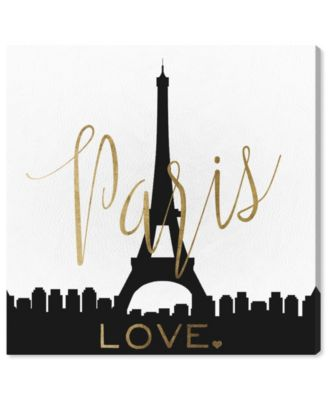 Paris Love Gold and Leather Canvas Art, 24