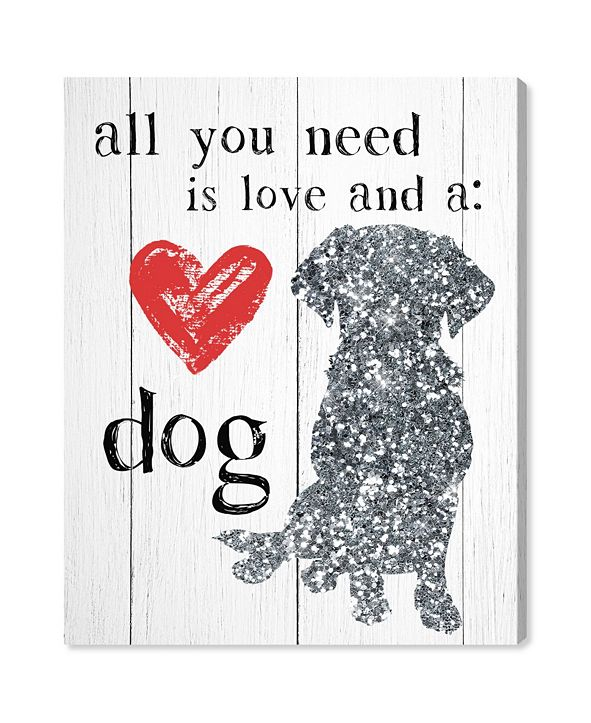 """Oliver Gal Love and A Dog Canvas Art, 17"""" x 20"""""""
