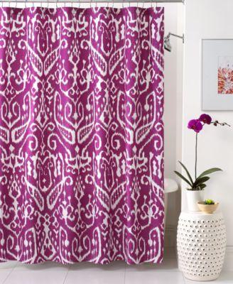 CLOSEOUT! Trina Turk Bath, Ikat Shower Curtain - Shower Curtains ...