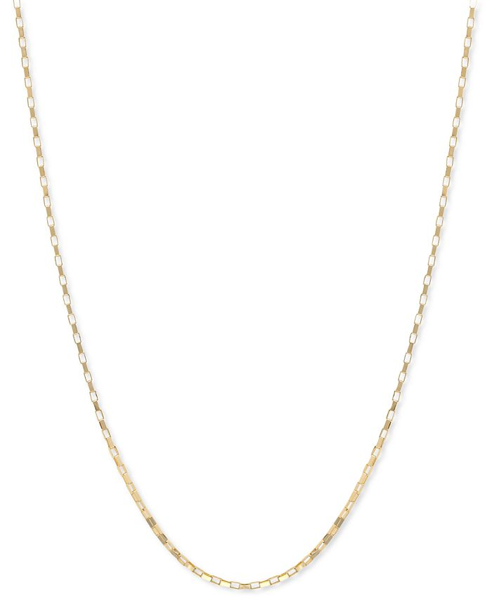 """Macy's - 14k Gold Necklace, 18"""" Open Box Chain"""