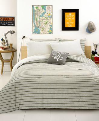 closeout! lacoste bedding, saint merri olive green twin comforter