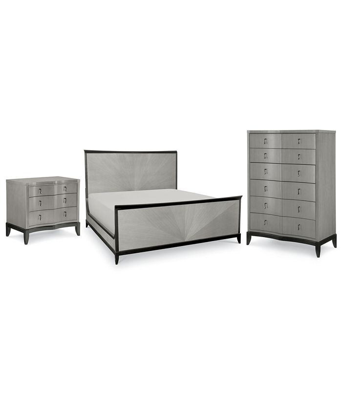 Furniture - Symphony Bedroom , 3-Pc. Set (Queen Bed, Nightstand & Chest)