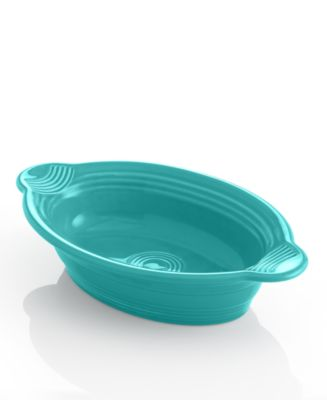 Fiesta Turquoise Individual Oval Casserole