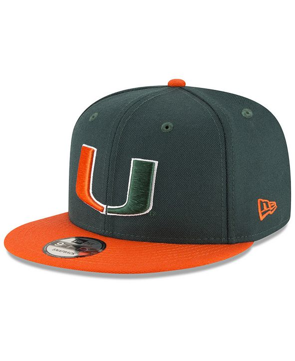 New Era Miami Hurricanes Core 9FIFTY Snapback Cap