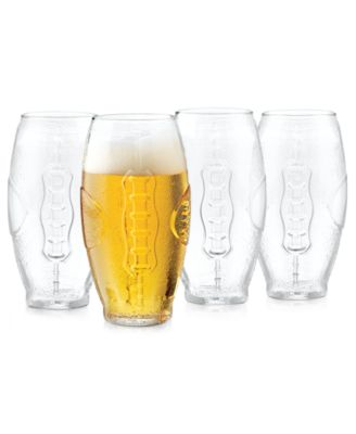 Libbey Glassware, Set of 4 Football Tumblers