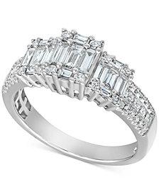 Diamond Baguette Ring (7/8 ct. t.w.) in 14k White Gold