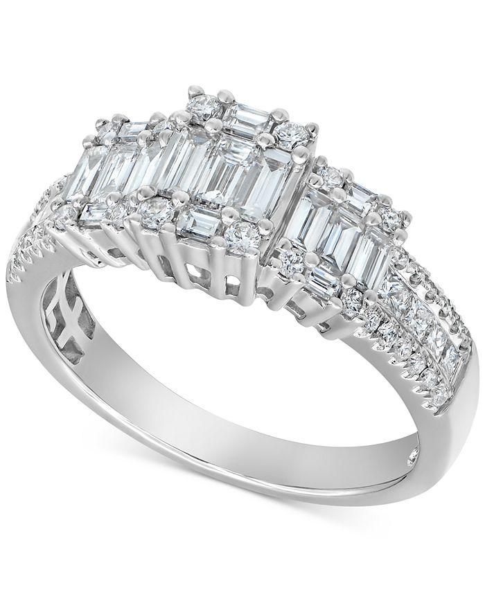 Macy's - Diamond Princess Ring (1-3/4 ct. t.w.) in 14k White Gold