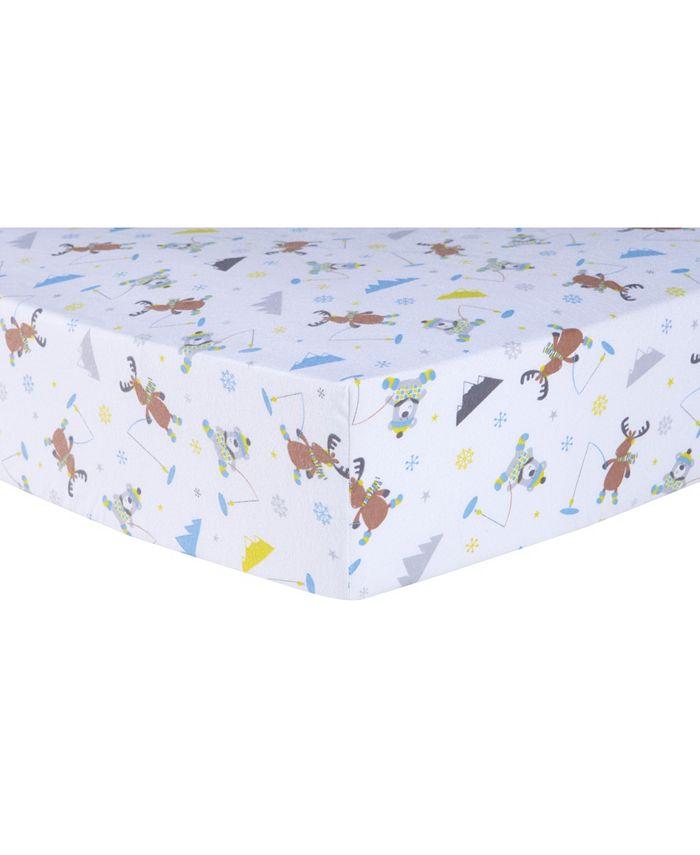Trend Lab - Gone Ice Fishing Flannel Crib Sheet