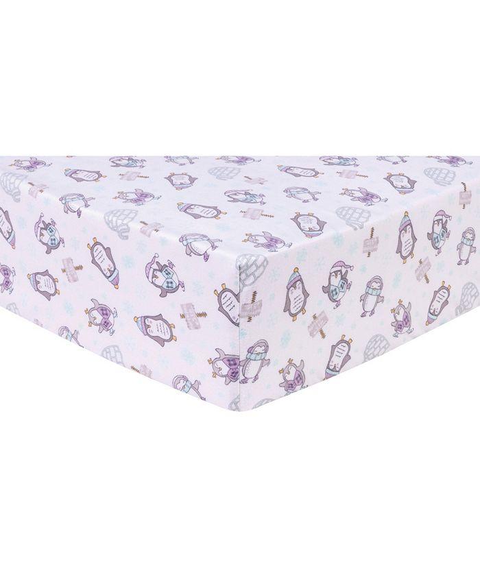 Trend Lab - Happy Penguins Flannel Crib Sheet