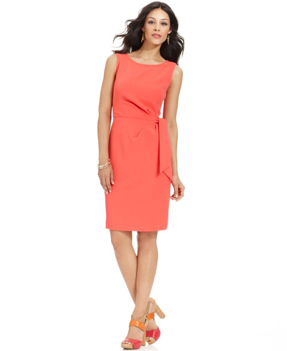 Anne Klein Petite Dress, Sleeveless Tie Waist Sheath   Suits & Separates   Women