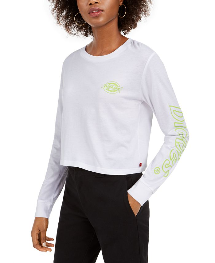 Dickies - Neon-Graphic Cropped Cotton T-Shirt