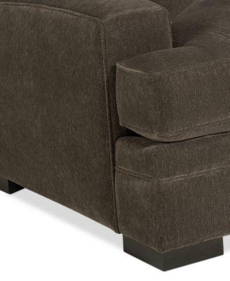 teddy fabric living room chair - furniture - macy's