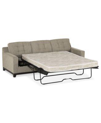 Clarke Fabric 2 Piece Sectional Queen Sleeper Sofa Bed
