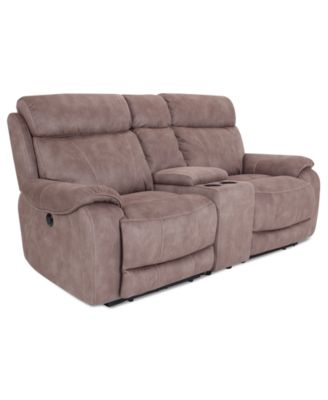 Ricardo Fabric Reclining Sofa Dual Power Recliner 88 Quot W X