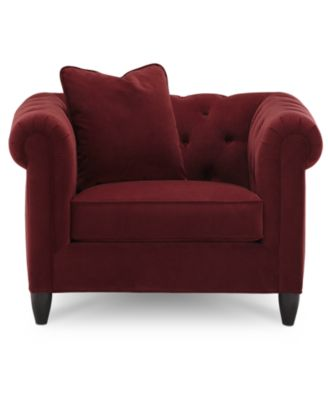 rayna polyester living room chair - furniture - macy's