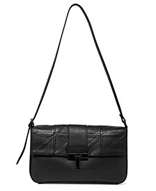 T Tahari Frida Leather Flap Shoulder Bag