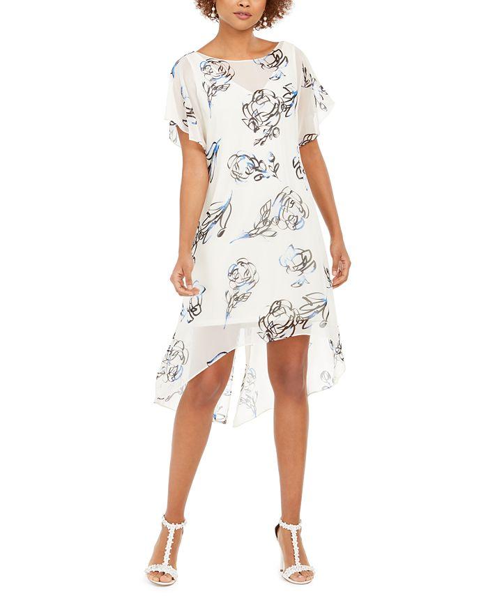 Adrianna Papell - Chiffon-Overlay Dress