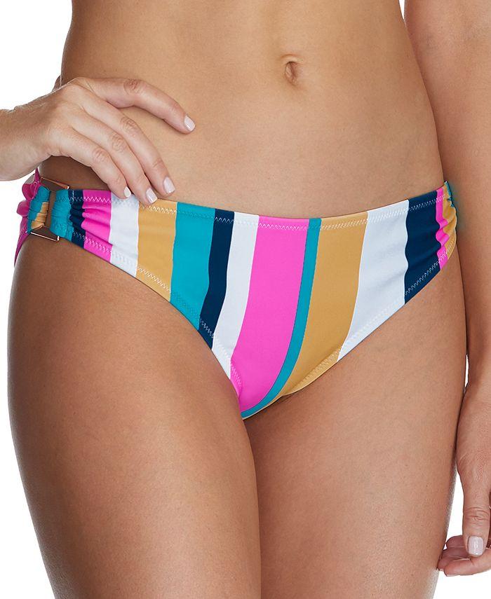 Raisins - Juniors' Belle Mar Striped O-Ring Bikini Bottoms