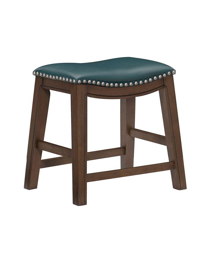 "Furniture - Gilman 18"" Height Saddle Stool"