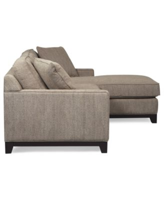 Clarke Fabric 2Piece Sectional Sofa Furniture Macys
