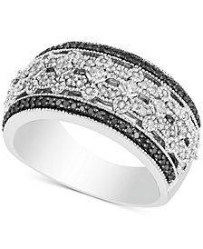 Diamond Openwork Milgrain Band (1/2 ct. t.w.) in Sterling Silver