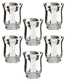 Lillian Rose Mercury Tulip Shaped Glass Votive or Tea Light Holders Set of 6