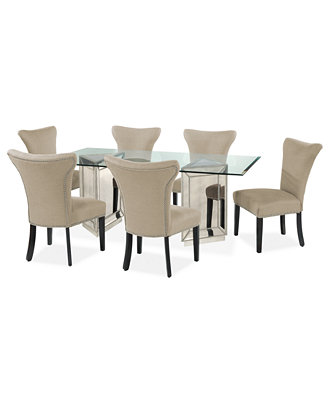sophia dining room furniture 7 piece set 76 table and 6