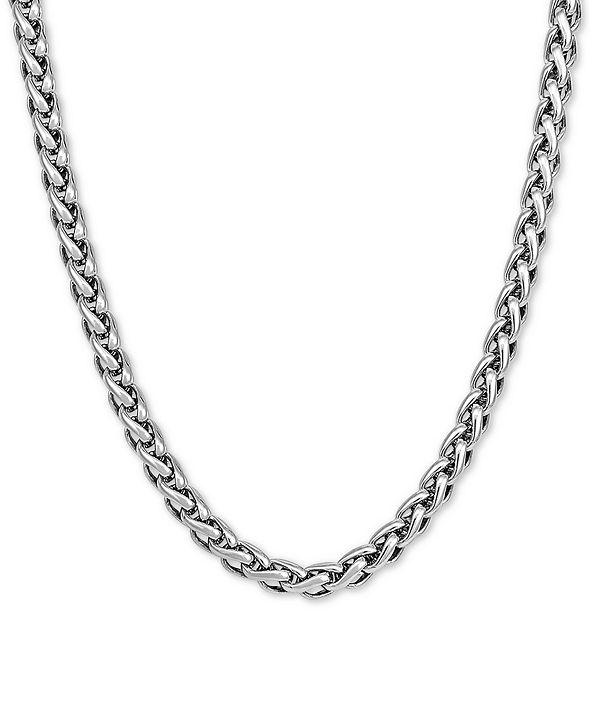 """Macy's Wheat Link 24"""" Chain Necklace in Sterling Silver"""