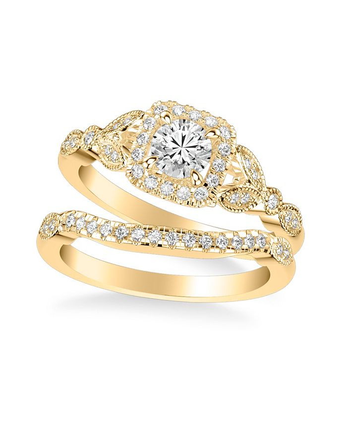 Macy's - DDiamond Princess Bridal Set (3/4 ct. t.w.) in 14k Yellow, White or Rose Gold