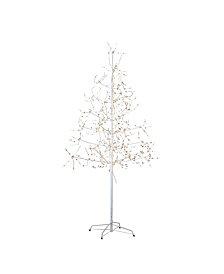 Kurt Adler 6-Foot White Birch Bark with LED Fairy Lights Tree