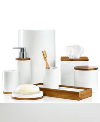 Kassatex Bath Accessories Acacia Collection Bathroom Accessories