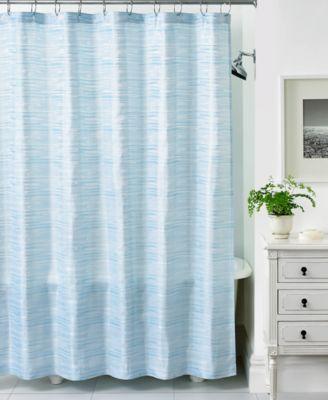 Martha Stewart Collection Segment Stripe Shower Curtain