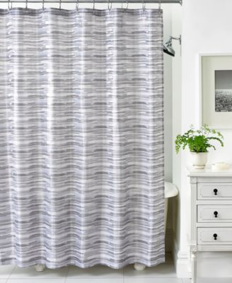 Exceptional Martha Stewart Collection Segment Stripe Shower Curtain