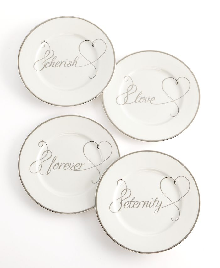 Mikasa - Set of 4 Love Story Appetizer Plates