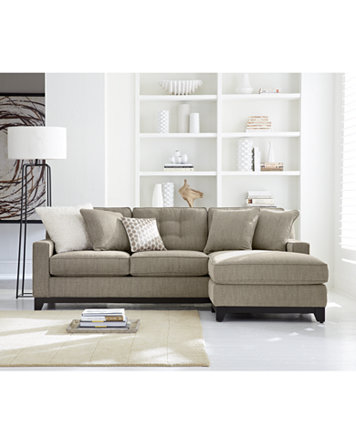Clarke Fabric Sectional Sofa Living Room Furniture Sets & Pieces ...