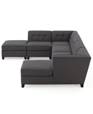 Harper Fabric 6 Piece Modular Sectional Sofa Square