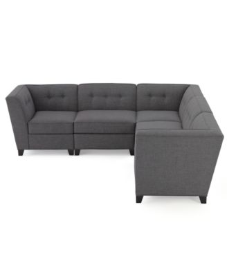 Harper fabric 5 piece modular sectional sofa furniture for Harper fabric modular sectional sofa 6 piece