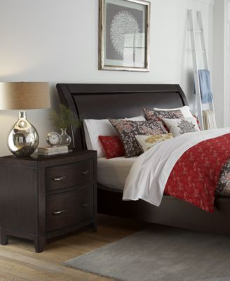 morena king 3pc bedroom set bed nightstand u0026 chest