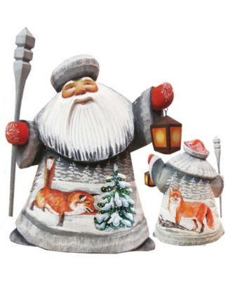 G Debrekht Woodcarved And Hand Painted Santa Foxy Play Father Frost Figurine Reviews Shop All Holiday Home Macy S