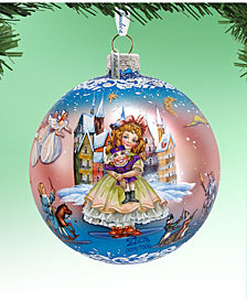 G.DeBrekht Limited Edition Oversized Nutcracker Fairytale Ball Glass Ornament