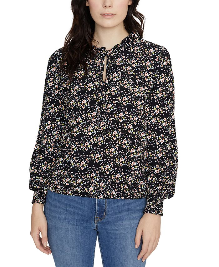 Sanctuary - Resolution Smocked Floral-Print Blouse