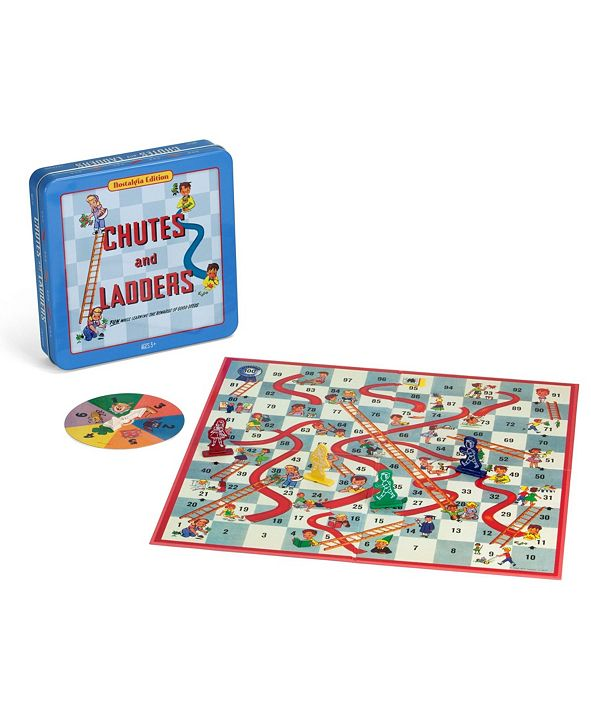Winning Solutions Chutes and Ladders Board Game Nostalgia Edition Game Tin