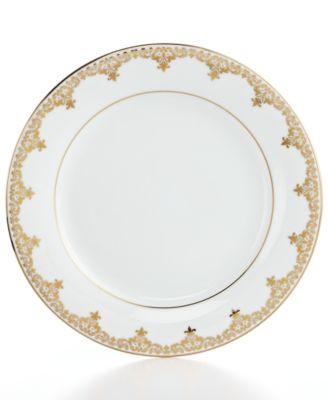 Charter Club Dinnerware, Grand Buffet Gold Accent Plate