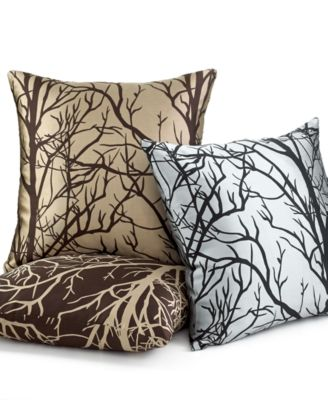 "Softline Element Tree 20"" Square Decorative Pillows"