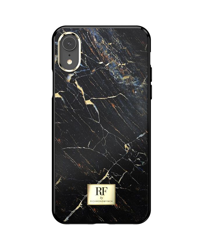 Richmond&Finch - Black Marble Case for iPhone XR