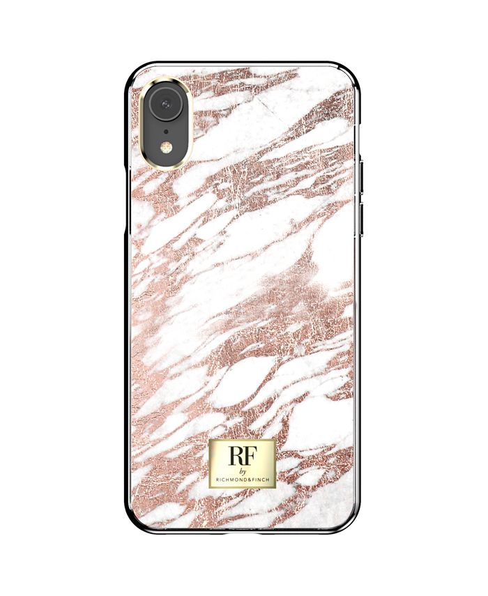 Richmond&Finch - Rose Gold Marble Case for iPhone XR