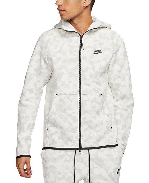 Nike Men S Sportswear Tech Fleece Printed Zip Hoodie Reviews Hoodies Sweatshirts Men Macy S
