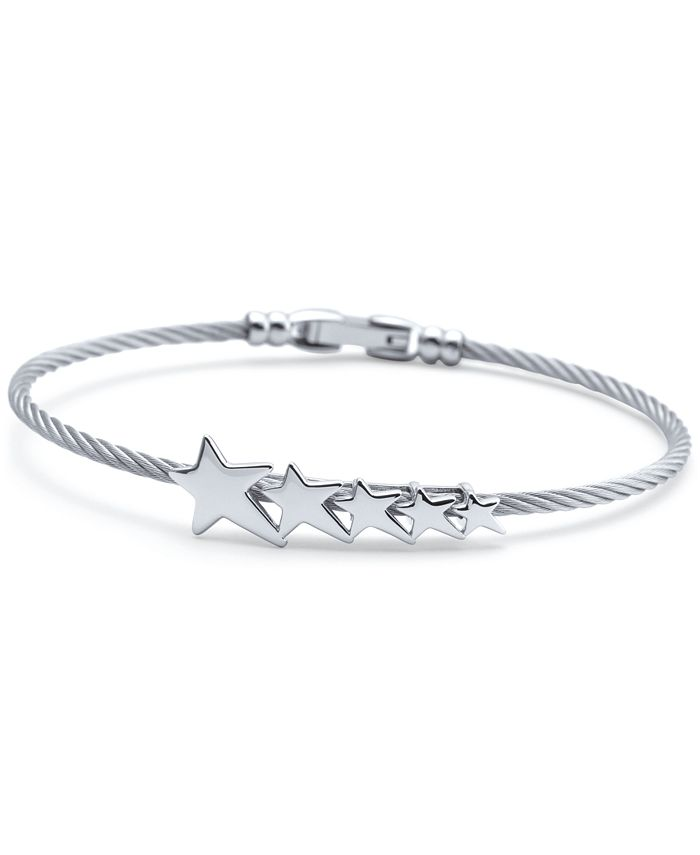 CHARRIOL - Graduated Star Cable Bracelet in Stainless Steel & Sterling Silver