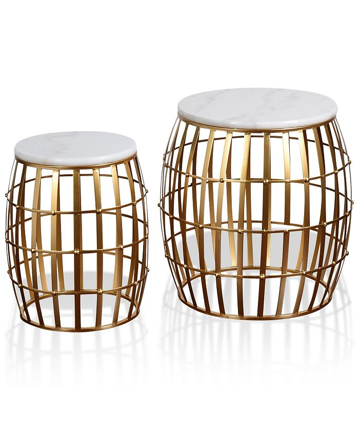 StyleCraft - Gold Cage 2pc Nesting Table