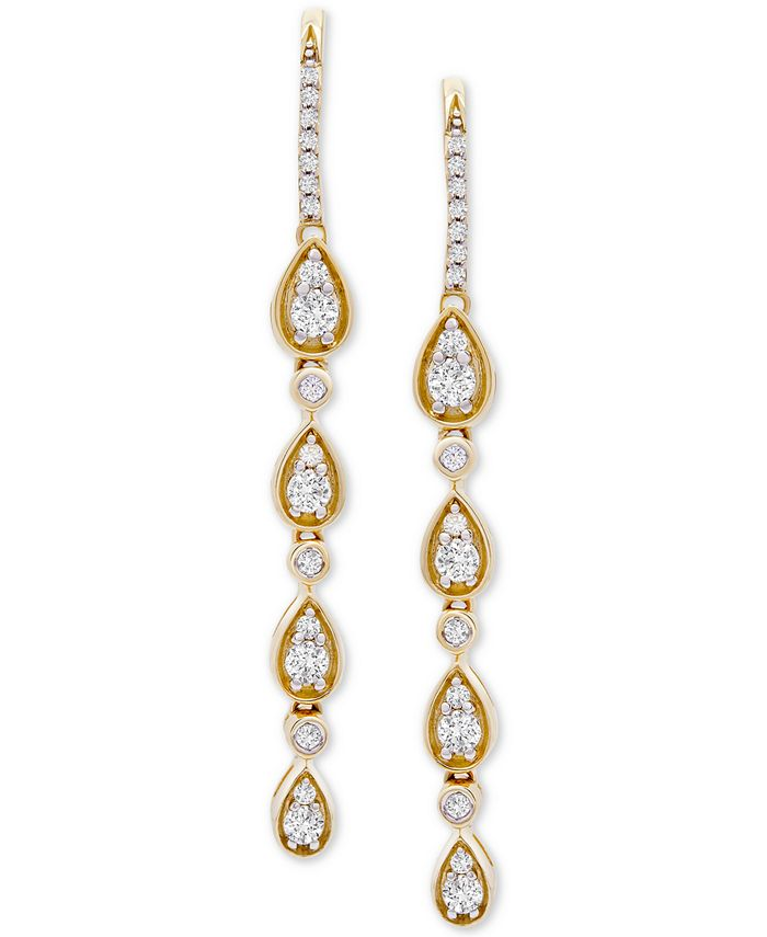 Wrapped in Love - Diamond Teardrop Dangle Drop Earrings (1 ct. t.w.) in 14k Gold